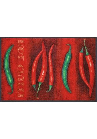 wash+dry by Kleen-Tex Fußmatte »Hot Chili«, rechteckig, 7 mm Höhe, Fussabstreifer,... kaufen