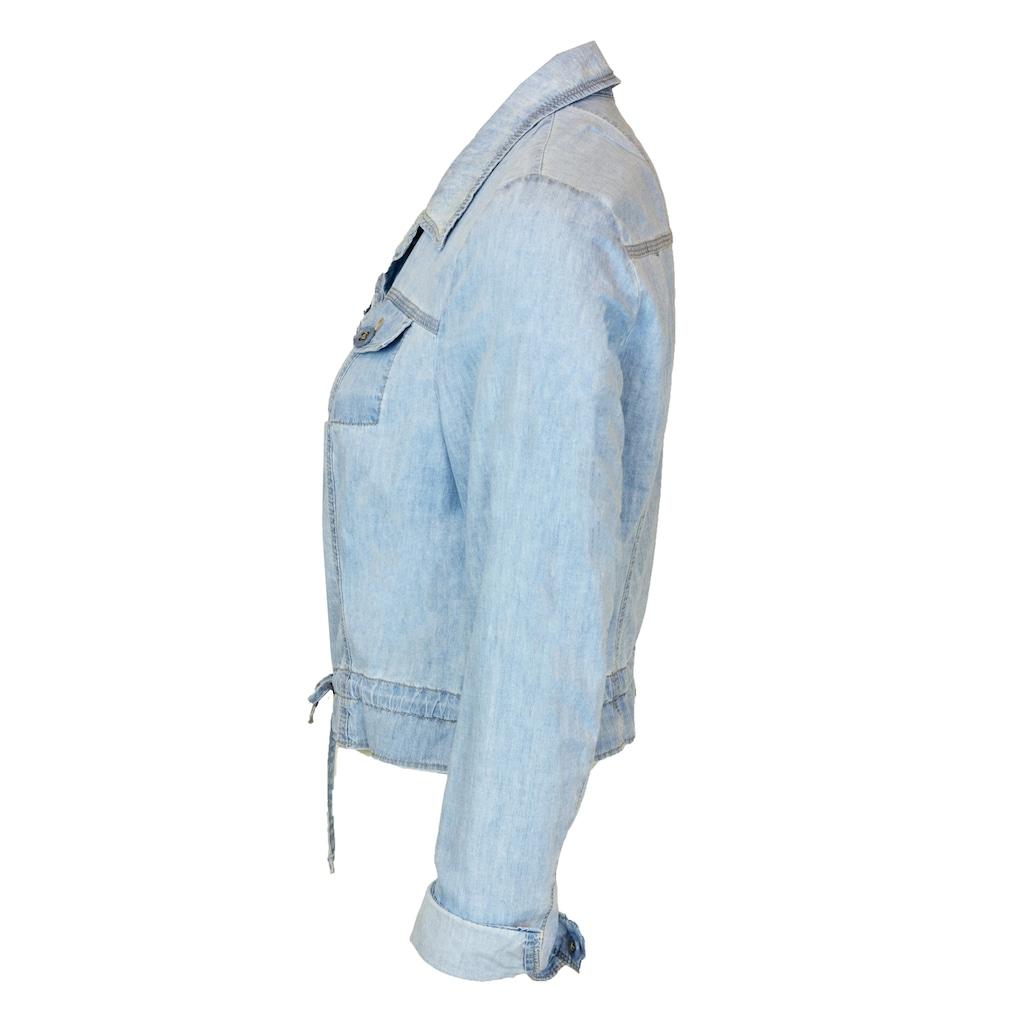 bianca Jeansjacke »JILLIS«, in heller Waschung mit Tunnelzug