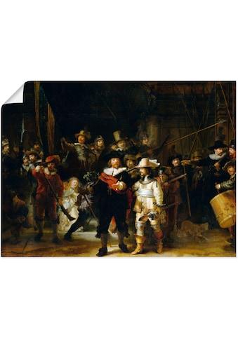 Artland Wandbild »Die Nachtwache. 1642«, Porträts, (1 St.), in vielen Größen &... kaufen