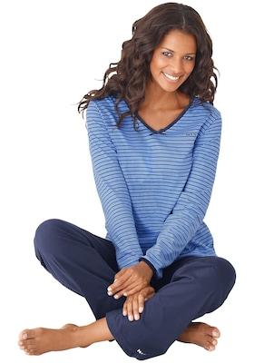 blauer Damen Pyjama