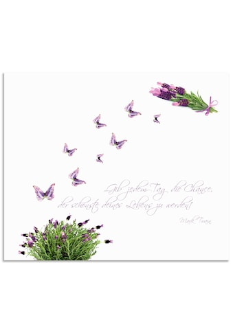 Artland Küchenrückwand »Lila Schmetterlinge an Lavendel« kaufen