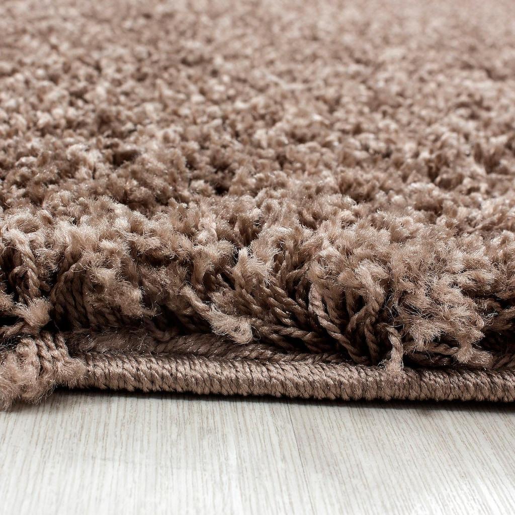 Ayyildiz Hochflor-Teppich »Life Shaggy 1500«, rund, 30 mm Höhe, Wohnzimmer