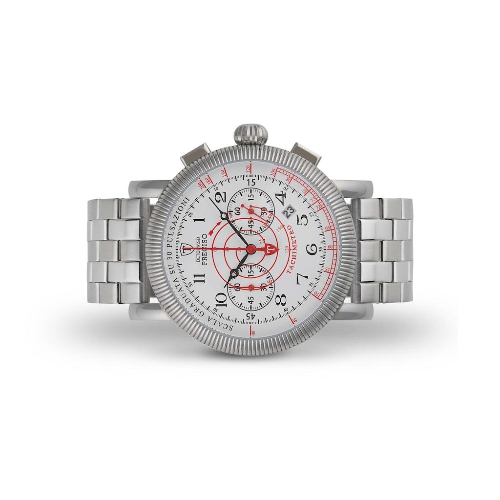 DETOMASO Chronograph »PRECISO SILVER WHITE«