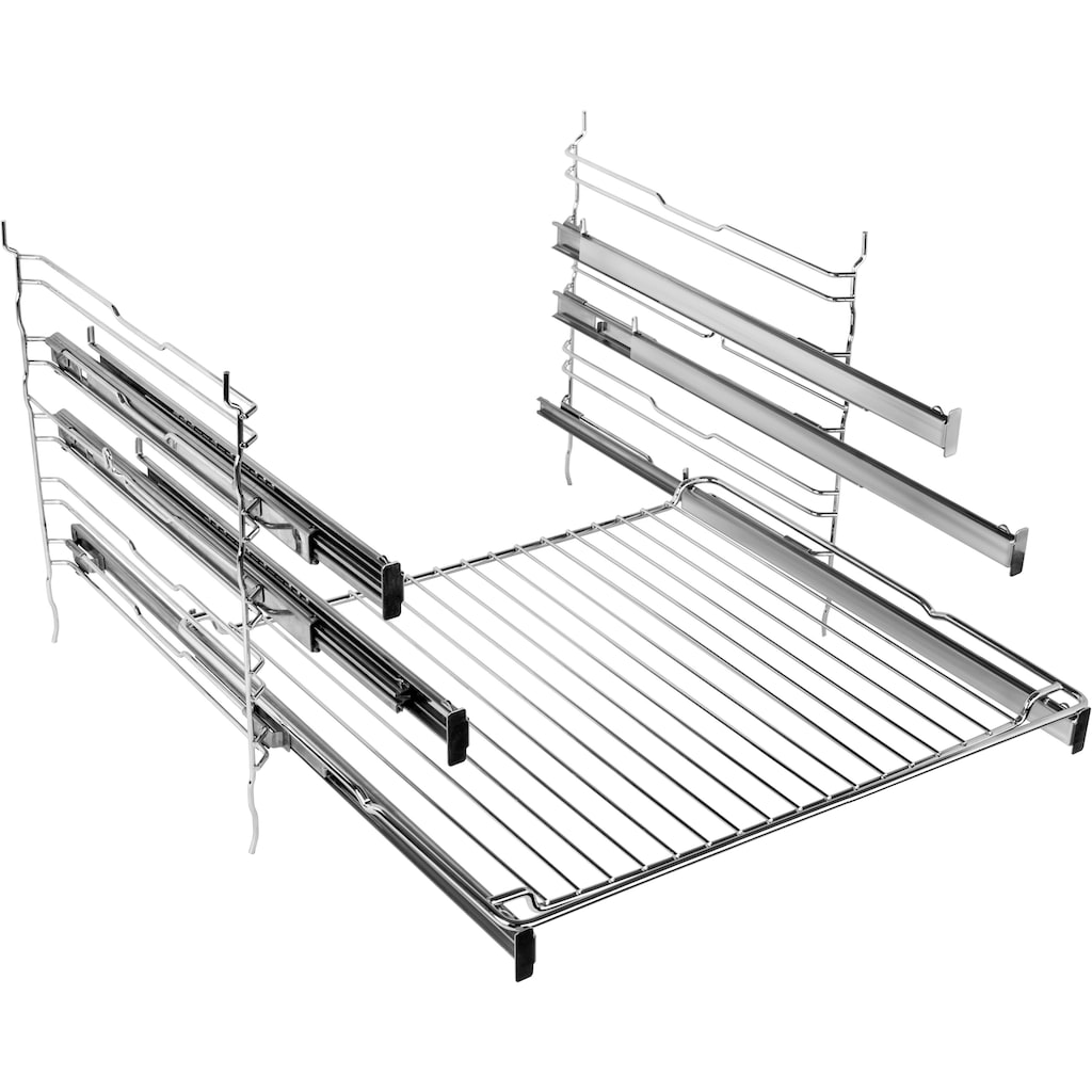 BAUKNECHT Elektro-Herd-Set »HEKO PYRO 8830S«, HIS5 EP8VS3 ES, mit Backauszug, Pyrolyse-Selbstreinigung, (Set)