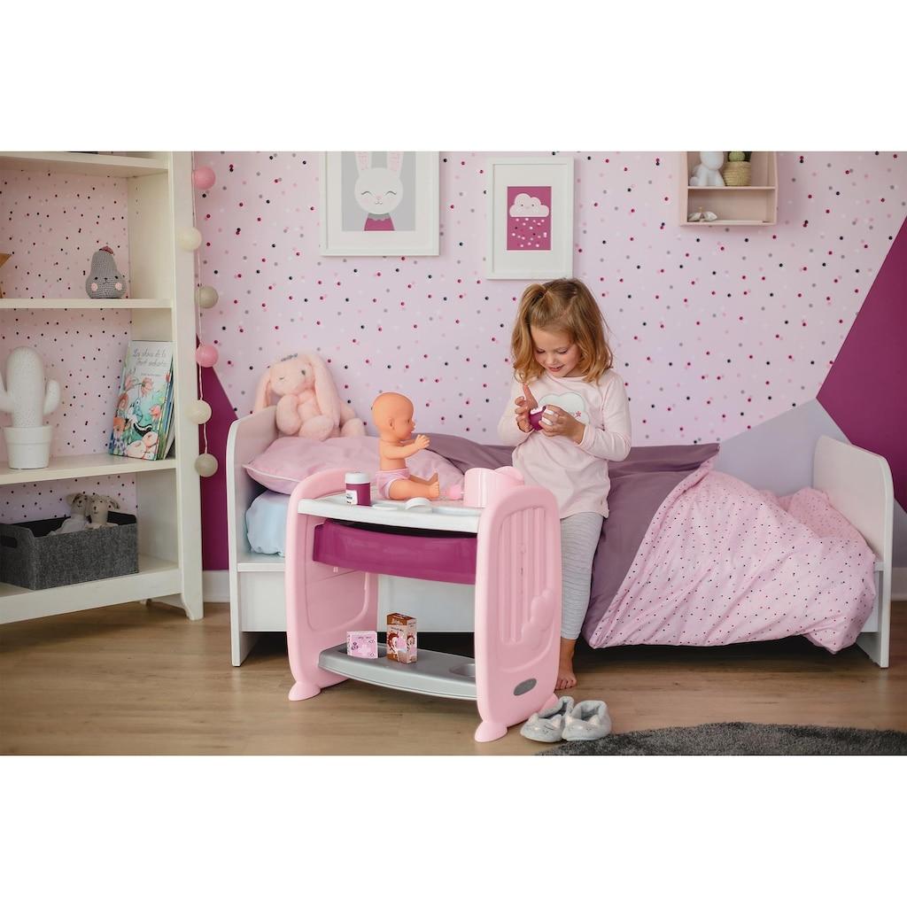 Smoby Puppenbett »Baby Nurse Puppen-Beistellbett«, zum Wickeltisch umbaubar; Made in Europe