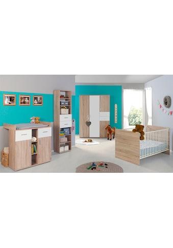 BMG Babyzimmer-Komplettset »Maxim«, (Set, 4 St.), Bett + Wickelkommode + 4-trg.... kaufen