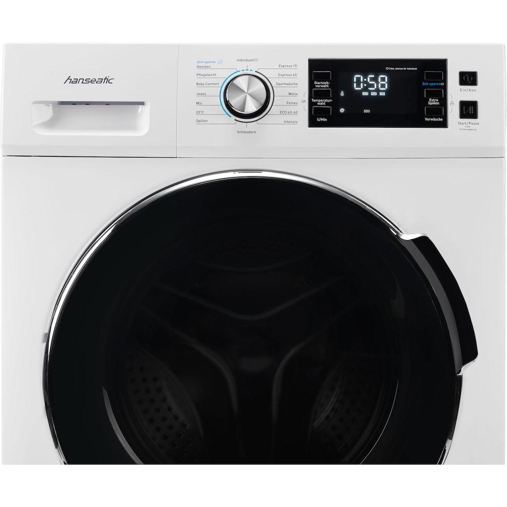 Hanseatic Waschmaschine »HWMB814B«, HWMB814B
