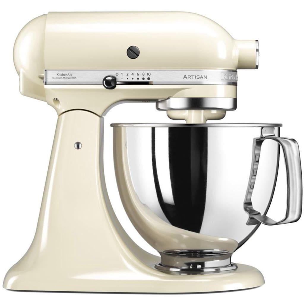KitchenAid Küchenmaschine »Artisan 5KSM175PSEAC«, 300 W, 4,8 l Schüssel, mit Gratis Wasserkocher, 2. Schüssel, Flexirührer