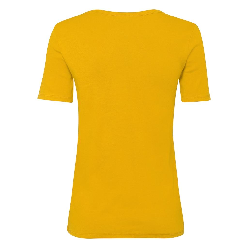 United Colors of Benetton T-Shirt, in feiner Rippenquialität