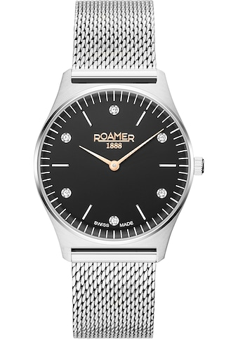 Roamer Schweizer Uhr »Elements Crystal Ladies, 650815 41 60 90« kaufen