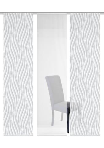 Vision S Schiebegardine »3ER SET WAVE«, HxB: 260x60, Schiebevorhang 3er Set Digitaldruck kaufen