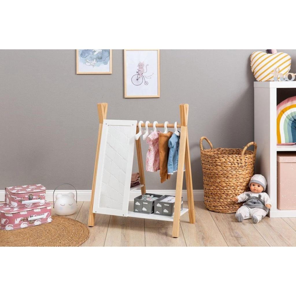 MUSTERKIND® Puppenkleiderschrank »Barlia, natur/weiß«