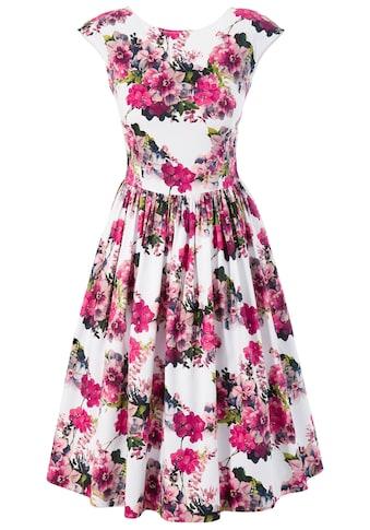 Krüger Collection Trachtenkleid mit All - Over Rosendessin kaufen