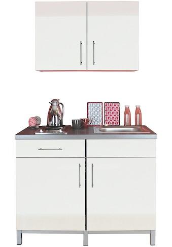 Menke Küchen Küchenzeile »Rack-Time Single 120«, mit E-Geräten, 120 cm breit kaufen