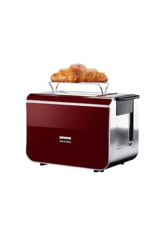 SIEMENS Toaster »Sensor for Senses TT86104«, 2 kurze Schlitze, für 2 Scheiben, 860 W,... kaufen