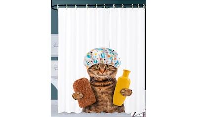 Sanilo Duschvorhang »Shower Cat«, Breite 180 cm, Höhe 200 cm kaufen