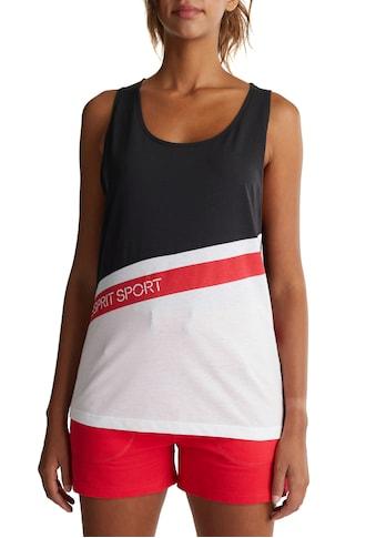 esprit sports Trägertop, im Streifen-Look mit Logo-Print kaufen