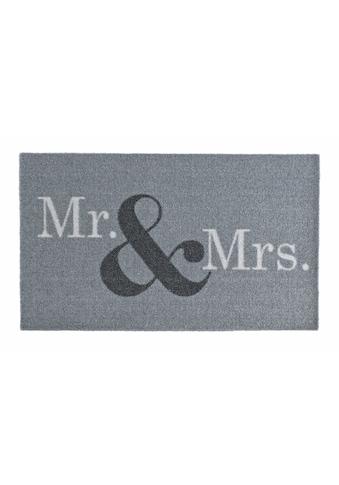 Zala Living Fußmatte »Mr & Mrs«, rechteckig, 7 mm Höhe, Fussabstreifer, Fussabtreter,... kaufen