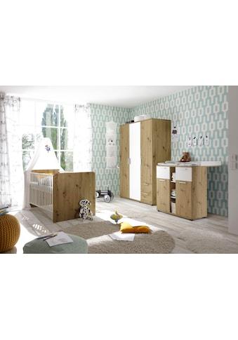 Babyzimmer-Komplettset »Bibo«, (Set, 3 St.), Bett + Wickelkommode + 3-trg. Schrank kaufen