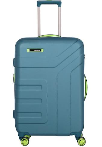 "travelite Hartschalen - Trolley ""Vector, 70 cm, Petrol/Limone"", 4 Rollen kaufen"