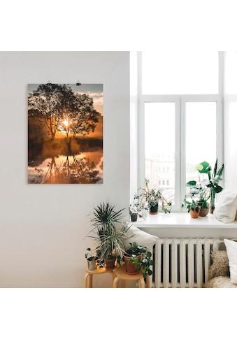 Artland Wandbild »Früh morgens, wenn der Tag erwacht« kaufen