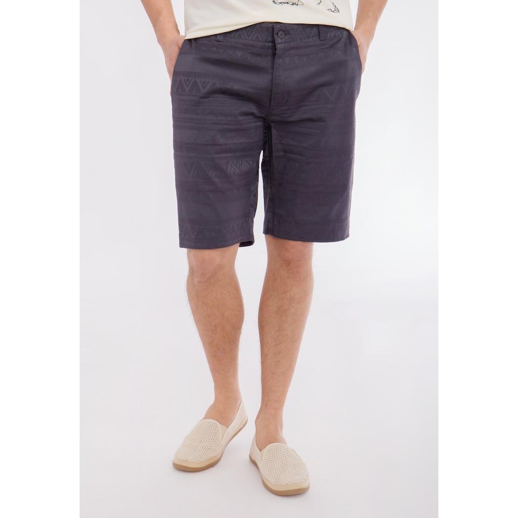 Mexx Shorts, mit tonigem Jacquardmuster und Eingriffstaschen