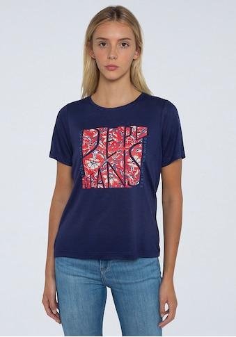 Pepe Jeans Kurzarmshirt »BROOKLYN«, mit floralem Frontprint und coolem Wording kaufen