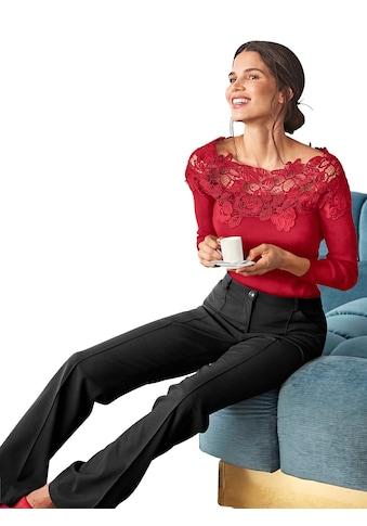Creation L Pullover mit romantischer, zarter Spitze kaufen