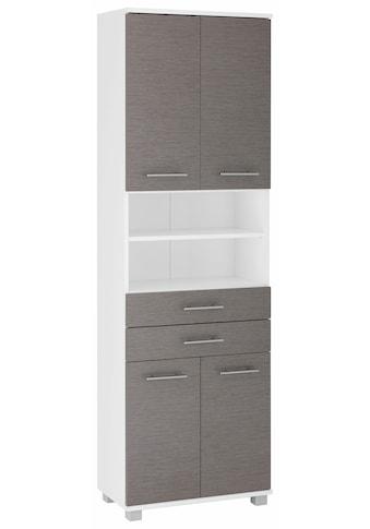 Schildmeyer Hochschrank »Palermo«, Breite 60 cm, verstellbare Einlegeböden, Metallgriffe, 2 Schubkästen & 4 Türen kaufen