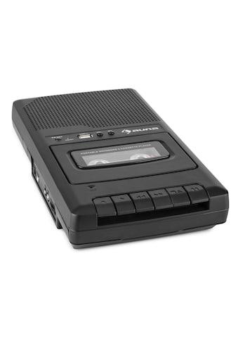 Auna portabler Kassettenrekorder Diktiergerät Tape Rec »RQ-132USB« kaufen