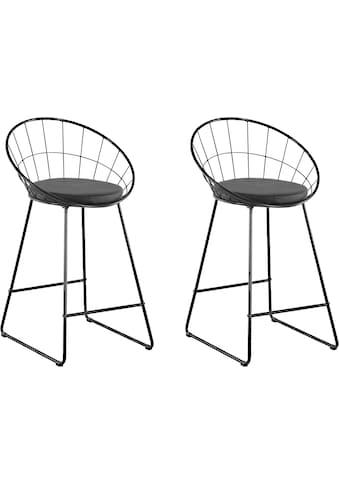 INOSIGN Hochstuhl »Jarek«, mit schwarzen Metallgestell, Sitzhöhe 63 cm kaufen