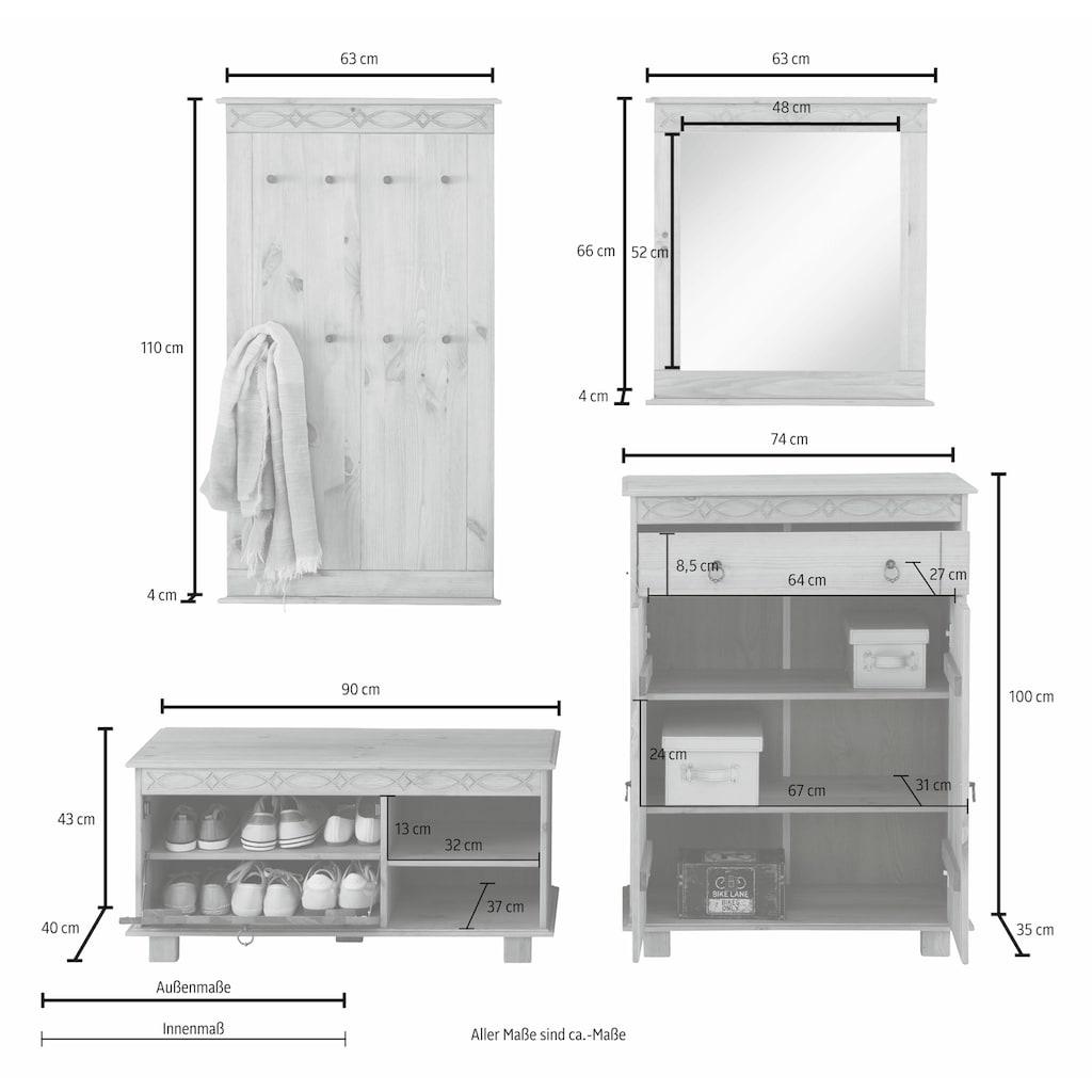 Home affaire Garderoben-Set »Indra«, (Set, 4 tlg.)