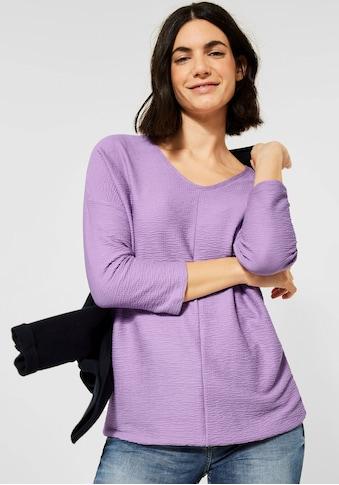 Cecil V-Shirt, in Seersucker-Optik kaufen