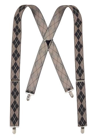 J.Jayz Hosenträger, (1 St.), Breite Hosenträger, Rautenmuster, Verstellbar, Elastisch kaufen