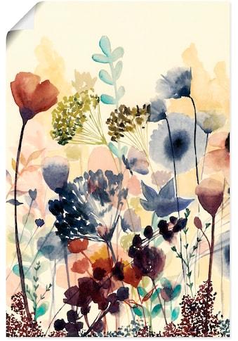Artland Wandbild »Sonnengetrocknete Blüten I«, Blumenwiese, (1 St.), in vielen Größen & Produktarten - Alubild / Outdoorbild für den Außenbereich, Leinwandbild, Poster, Wandaufkleber / Wandtattoo auch für Badezimmer geeignet kaufen