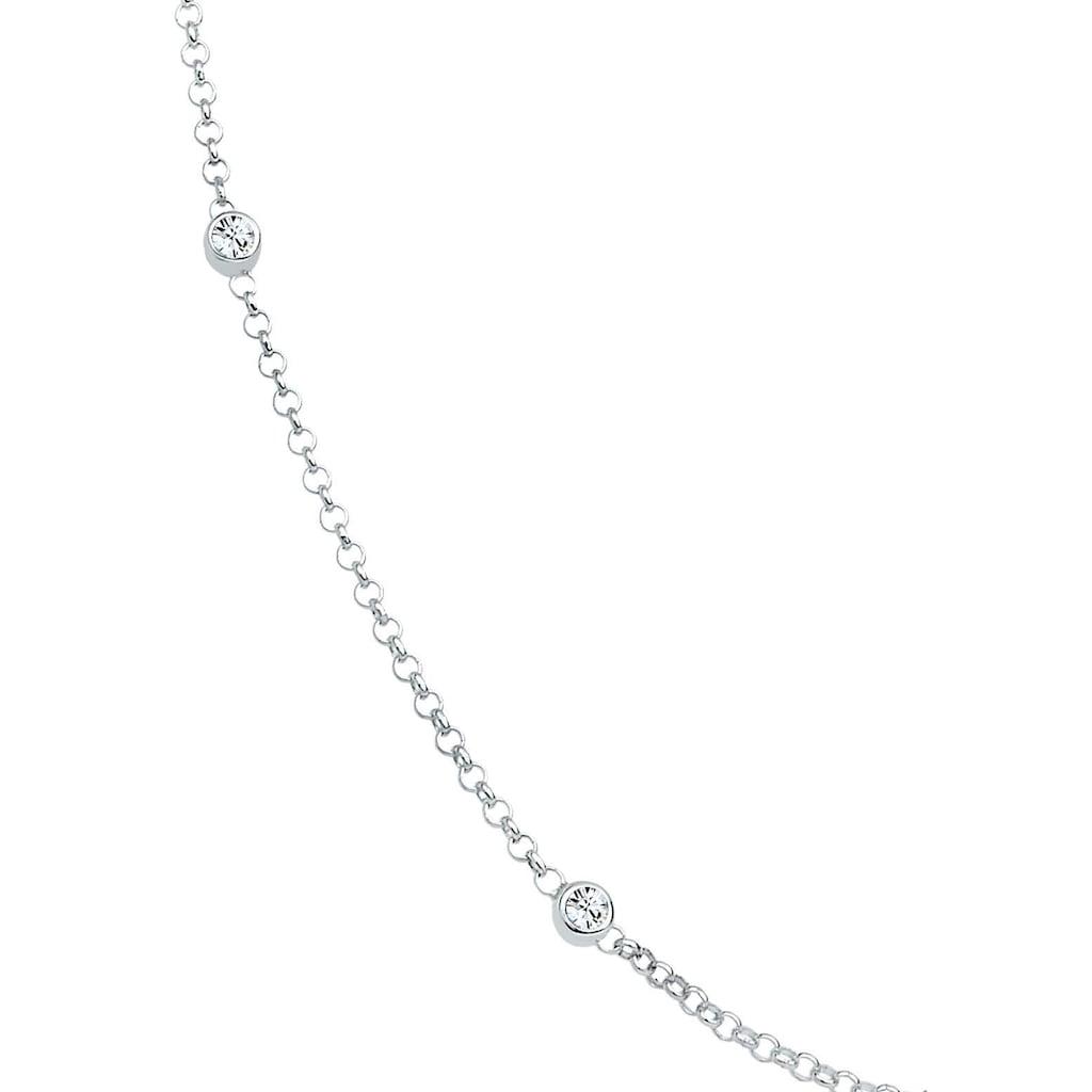 Elli Silberkette »Silitär Basic, 0109741013«, mit Kristallen