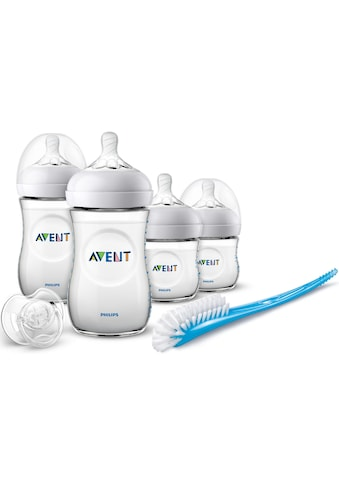 Philips AVENT Babyflasche »Starterset für Neugeborene SCD301/01«, (Set, 10 tlg.), 4 Flaschen, Schnuller und Bürste kaufen