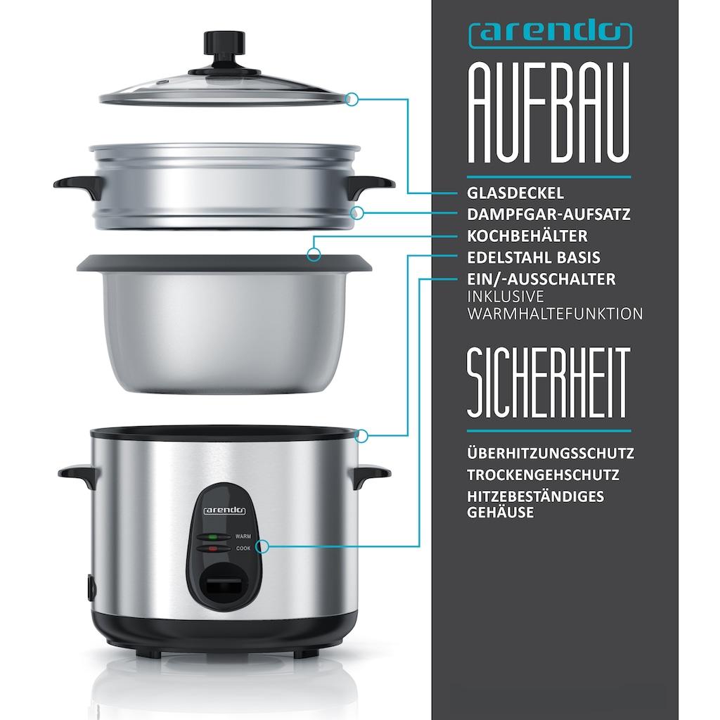 Arendo Reiskocher mit automatischer Koch und Wärm- Funktion