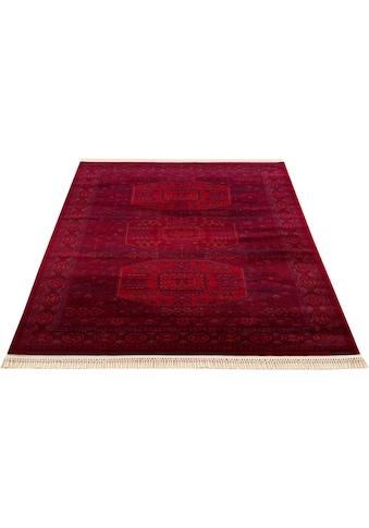 DELAVITA Teppich »Raika«, rechteckig, 10 mm Höhe, Mit Fransen, Wohnzimmer kaufen