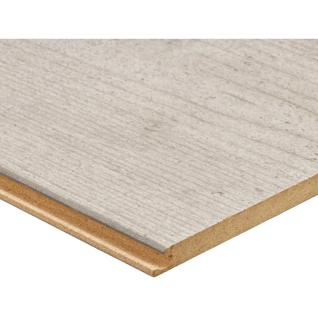 Bodenmeister Laminat »Betonoptik Sicht-Beton hell-grau weiß«, pflegeleicht, 60 x 30 cm Fliese, Stärke: 8 mm