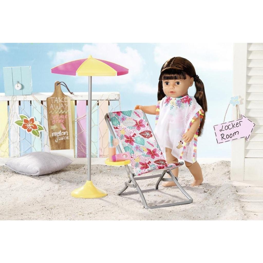 Baby Born Puppen Liegestuhl »Holiday Liegestuhl Set«