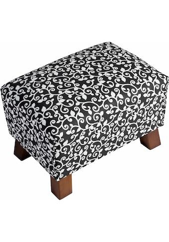 Max Winzer® Fußhocker »Footstool«, Minihocker Breite 40 cm, mit Ornamenten kaufen
