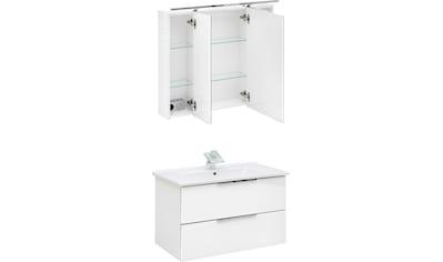 Schildmeyer Badmöbel-Set »Ankona«, (2 St.), Spiegelschrank & Waschtisch, montiert kaufen