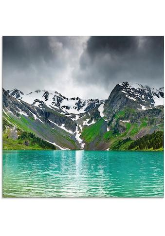 Artland Glasbild »Bergsee«, Berge, (1 St.) kaufen