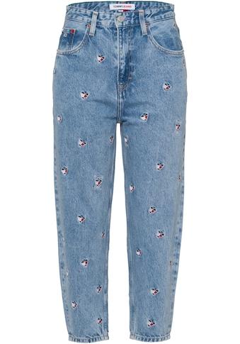Tommy Jeans Mom-Jeans »Mom Jean UHR TPRD AE710 SCLBR«, mit allover bestickten Herzmotiven kaufen