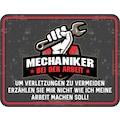 Rahmenlos Blechschild für den Mechaniker