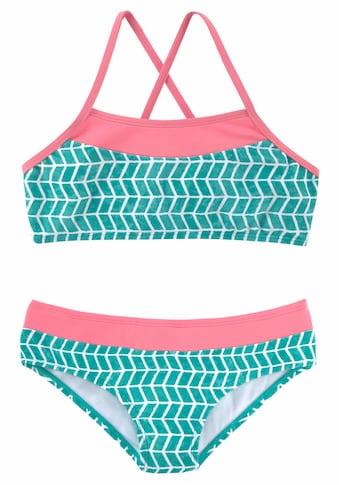 s.Oliver Bustier-Bikini, im Colorblockingstyle kaufen