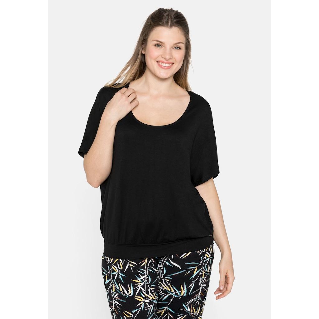 Sheego Oversize-Shirt, in legerer Form mit Häkeleinsatz