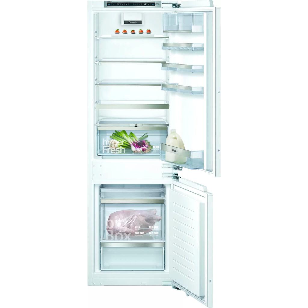 SIEMENS Einbaukühlgefrierkombination »KI86SHDD0«, iQ500