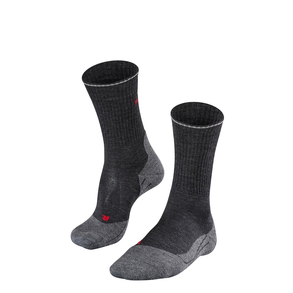 FALKE Wandersocken »TK2 Wool Silk Trekking«, (1 Paar), mit mittelstarker Polsterung